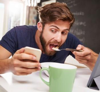 man eating breakfast 2