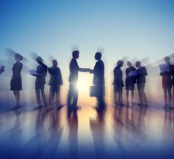 34575418 - business people new york outdoor meeting concept